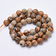 Natural Picture Jasper Beads Strands G-S281-01-6mm-2