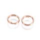 304 Stainless Steel Split Rings, Rose Gold, 7x1.4mm; Inner Diameter: 5.6mm; Single Wire: 0.7mm