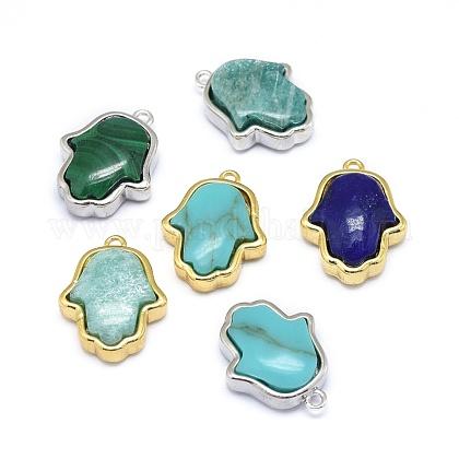 Natural & Synthetic Mixed Stone PendantsG-L516-33-1