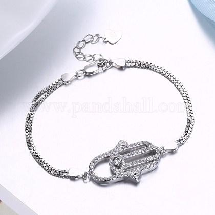 Sterling Silver Link BraceletsSTER-BB30390-1