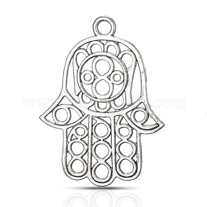 Tibetan Silver Big PendantsTIBE-A006-003AS-1
