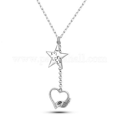 SHEGRACE® collares pendientes de plata de ley 925JN966A-1