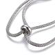 304 pulseras de acero inoxidable de la cadena de malla de aceroBJEW-O173-01-3