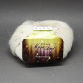 Hilos de alta calidad para tejer a mano, hilos de lluvia de meteoros, con mohair, lana, puntos de lana artificial y de color, nieve, 1 mm; aproximamente 25 g / rollo, 10 rollos / bolsa