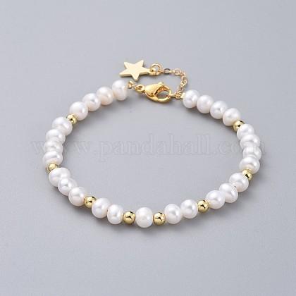 Pulseras de perlas naturalesBJEW-JB04878-01-1