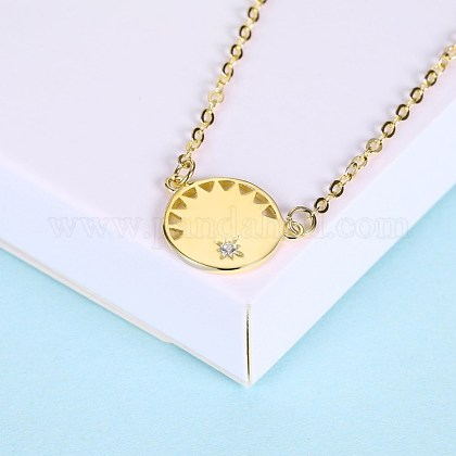 Collares pendientes de plata esterlina de modaNJEW-BB28785-C-1