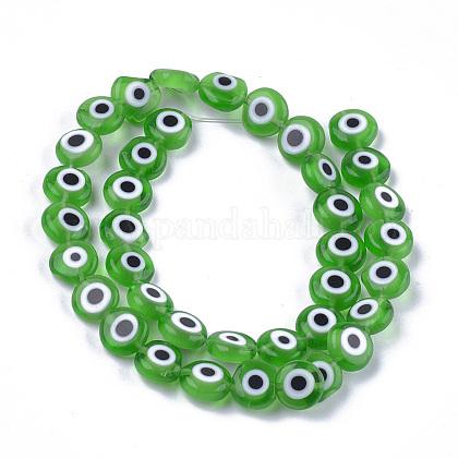 Chapelets de perles vernissées manuellesLAMP-S191-02C-02-1