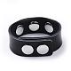 Leather Chunk Bracelet MakingAJEW-R014-3-3