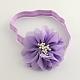 Flores de tela accesorios para el cabello cintas para la cabeza del bebé elástica para bebésOHAR-Q002-21-2