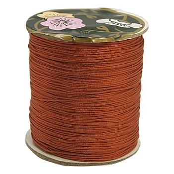 Hilo de nylon, cable de la joya de encargo de nylon para la elaboración de joyas tejidas, marrón, 0.8 mm; aproximamente 120 m / rollo