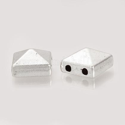 Perlas de remache de aleación de estilo tibetanoTIBEP-S313-07AS-RS-1