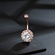 Brass Piercing JewelryAJEW-EE0006-80RG-3