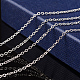 Nickel Free Silver Color Plated Brass Chain NecklacesX-SW028-S-5