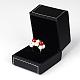 Cajas rectangulares anillo de imitación de cueroLBOX-F001-04-4