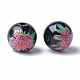 Perles de verre imprimées et peintes au pistoletX-GLAA-S047-03B-08-2