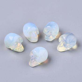 Бусы из опалита на хэллоуин, нет отверстий / незавершенного, череп, 18~20x16.5~18x24~25 мм