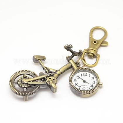 Accesorios de llavero retro reloj de cuarzo de aleación de bicicleta para llaveroWACH-M108-06AB-1