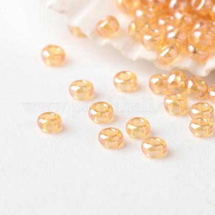Perles de verre rondes lustrées fgb® 12/0 couleurs transparentesSEED-A022-F12-502-1