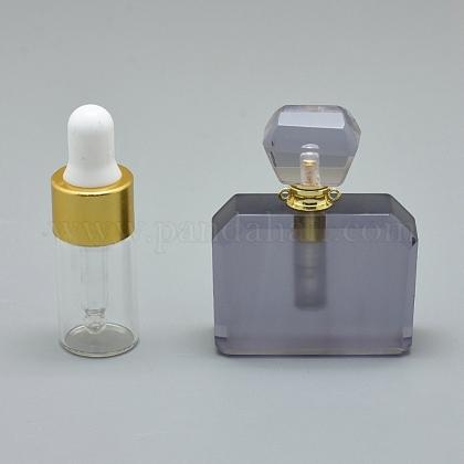 Colgantes de botella de perfume que se pueden abrir de cuarzo sintéticoG-E556-08B-1