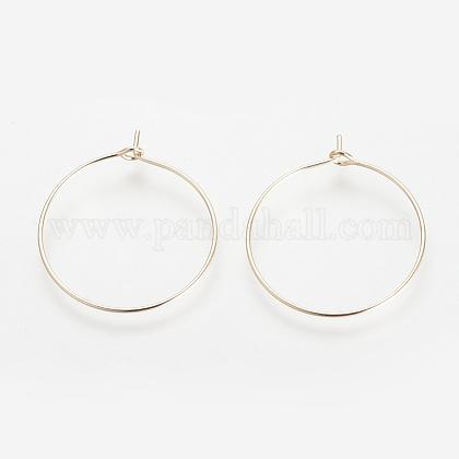 Brass Hoop EarringsKK-S327-10KC-1