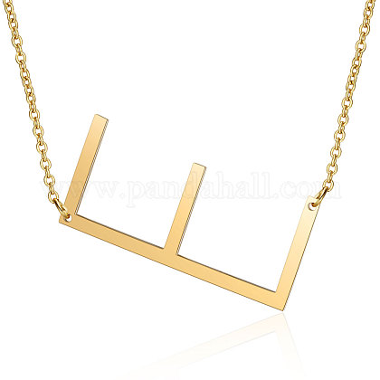 201 Stainless Steel Initial Pendants NecklacesNJEW-S069-JN004D-E-1