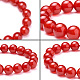 SUNNYCLUE® Natural Red Agate Round Beads Stretch BraceletsBJEW-PH0001-10mm-04-4