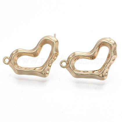Brass Stud Earring FindingsKK-R130-039A-NF-1