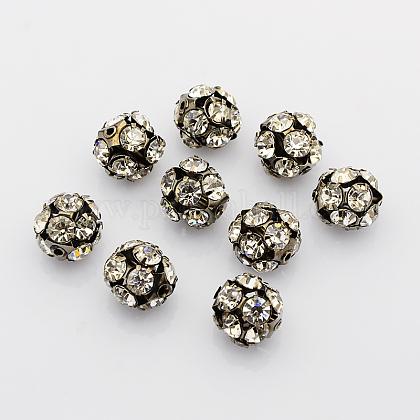 Abalorios de Diamante de imitación de latónRB-A019-14mm-01B-1