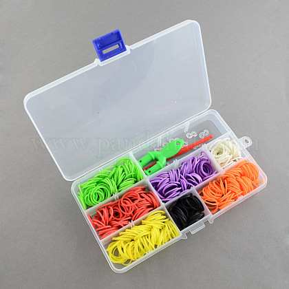 Top Selling Children's Toys DIY Colorful Rubber Loom Bands Refill Kit with Accessories DIY-R009-02-1
