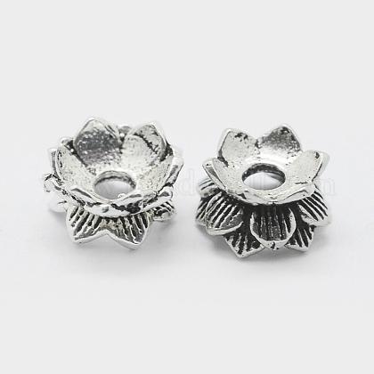 Thai Sterling Silver Double Sided Flower Bead CapsSTER-K171-24AS-1