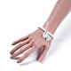 Cotton Thread Tassels Charm BraceletsBJEW-JB04385-03-6