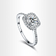 Real Platinum Plated Environmental Brass AAA Square Cubic Zirconia Engagement Ring RJEW-AA00201-9#-P-1