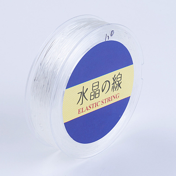 Japanese Round Elastic Crystal String, Elastic Beading Thread, for Stretch Bracelet Making, White, 0.7mm, 60yards/roll, 180 feet/roll