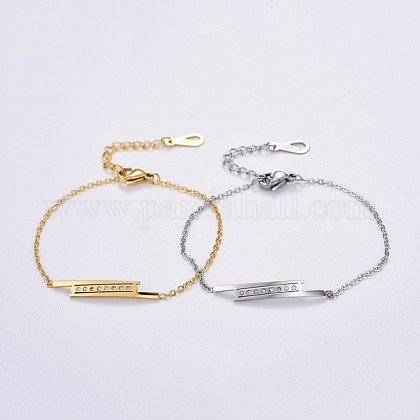 304 cable de acero inoxidable cadenas pulseras de enlaceBJEW-F396-04-1