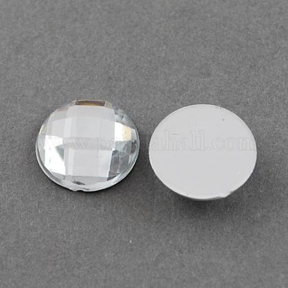 Acrílico diamante de imitación cabujonesGACR-R002-12mm-08-1