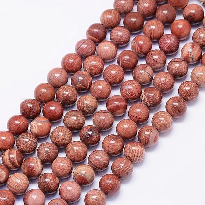 Natural Red Jasper Beads StrandsG-F425-42-1