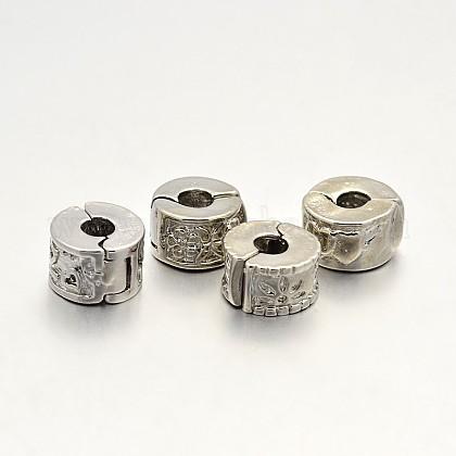 Cuentas de cierre de latón europeoX-KK-N0061-09P-NF-1