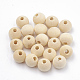 Unfinished Wood Beads, Natural Wooden Loose Beads Spacer Beads, Lead Free, Round, Moccasin, 13.5~14mm, Hole: 3.5mm; about 600pcs/500g