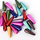 Spray Painted Miracle Acrylic Teardrop BeadsX-SACR-Q126-10-1