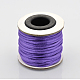 Macrame Rattail Chinese Knot Making Cords Round Nylon Braided String ThreadsX-NWIR-O001-A-09-1
