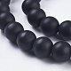 Synthetic Black Stone Bead StrandsG-R345-10mm-38-1-3