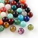 Round Imitation Gemstone Acrylic Beads, for Name Bracelets & Jewelry Making, Mixed Color, 6mm, Hole: 2mm