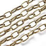 Iron Cable Chains, Soldered, Antique Bronze, 6x4mm