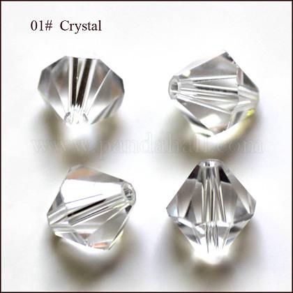Abalorios de cristal austriaco de imitaciónX-SWAR-F022-4x4mm-001-1
