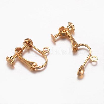 Brass Clip-on Earring FindingsKK-G287-01-LF-1