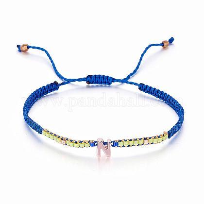 Pulseras cordón de nylon trenzadoBJEW-J174-04-1