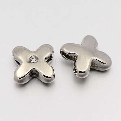 Letter Slider Beads for Watch Band Bracelet MakingX-ALRI-O012-X-NR-1