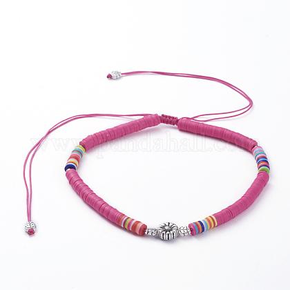 Collares ajustables con cordón de nylon trenzadoNJEW-JN02727-02-1