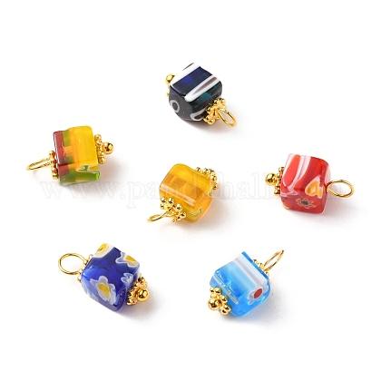 Encantos de cristal millefiori hechos a manoPALLOY-JF00554-1
