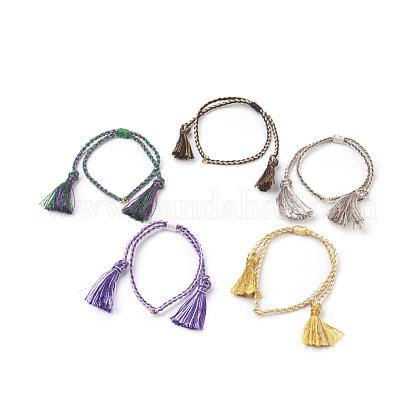Bracelets tressés en nylonBJEW-O167-01-1